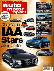 Neues Heft, auto motor und sport, Ausgabe 20/2015, Vorschau, Preview