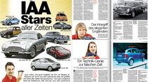 Neues Heft, auto motor und sport, Heft 20/2015, IAA-Special, Preview, Heftvorschau
