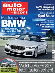 Neues Heft auto motor und sport, Heft 21/2015, Vorschau, Preview