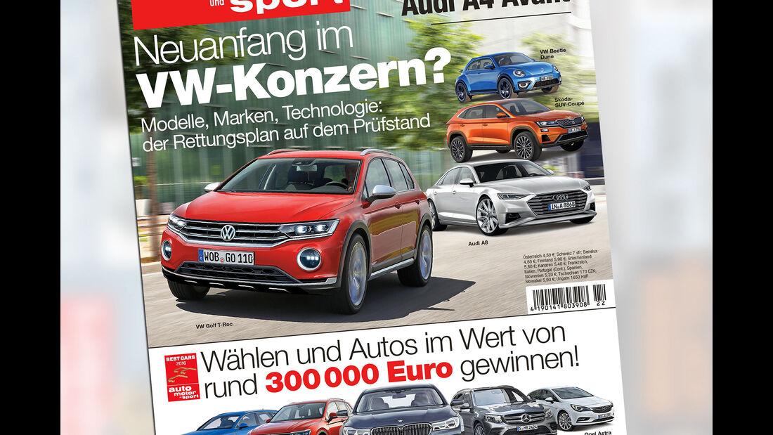 Neues Heft auto motor und sport, Heft 22/2015, Vorschau, Preview