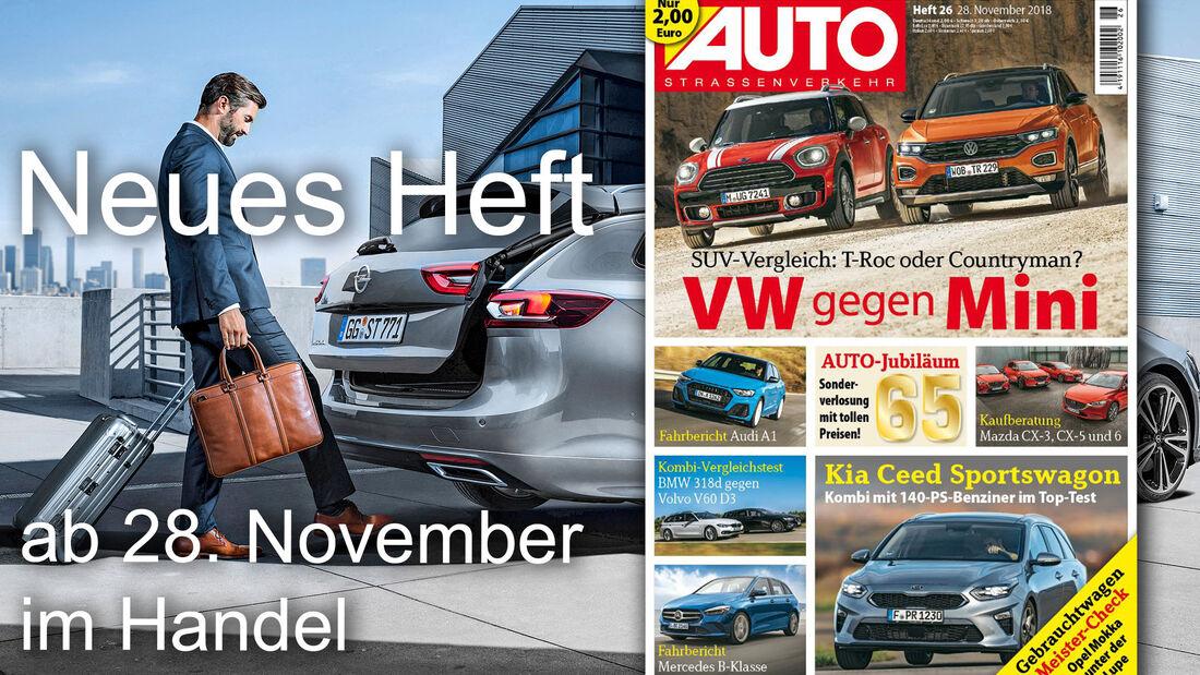 Neues Heft von AUTOStraßenverkehr, Ausgabe 26/2018