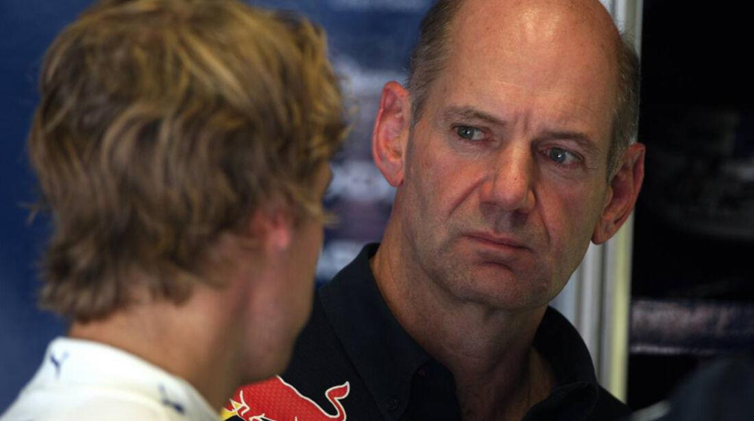 Newey und Vettel