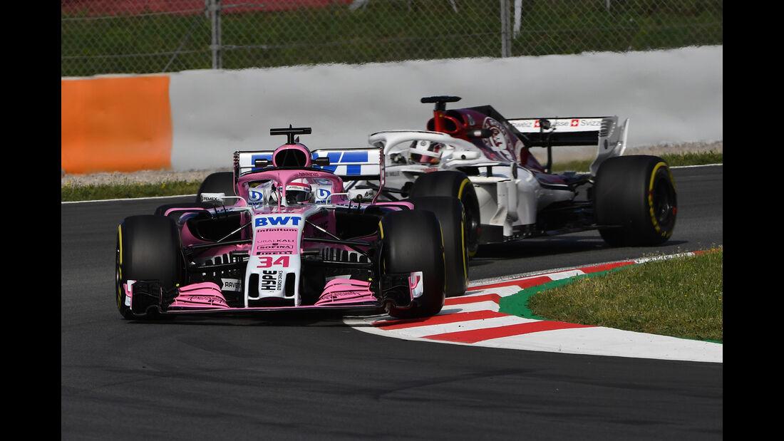 Nicholas Latifi - Force India - F1-Test - GP Spanien - Barcelona - Tag 2 - 16. Mai 2018