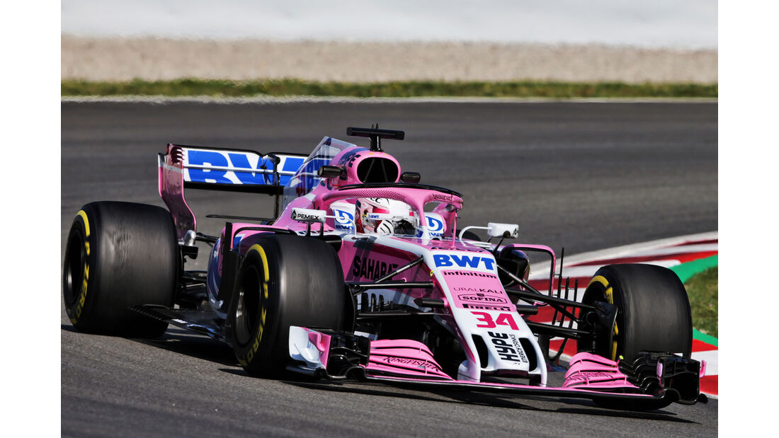 Nicholas Latifi - Force India - Formel 1 - Testfahrten - Barcelona - Dienstag - 15-5-2018