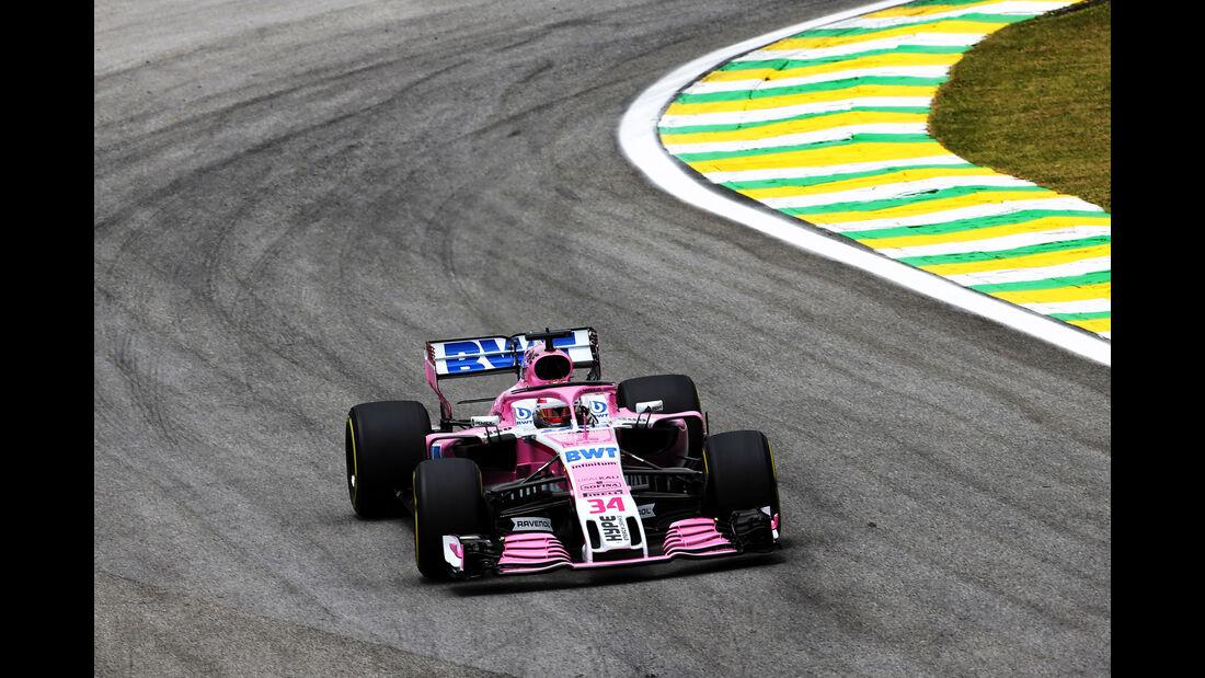 Nicholas Latifi - Force India - GP Brasilien - Interlagos - Formel 1 - Freitag - 9.11.2018