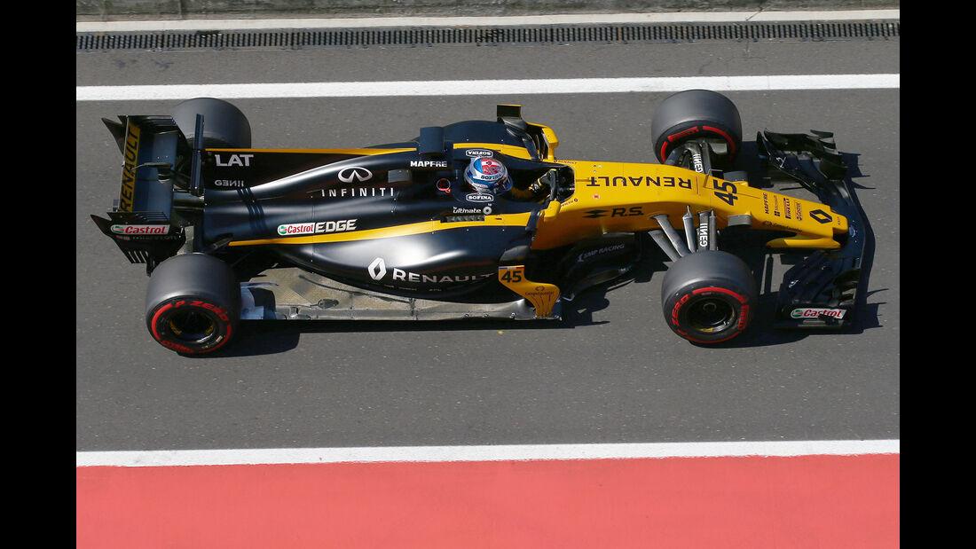 Nicholas Latifi - Renault - Formel 1 - Test - Ungarn - Budapest - 1. August 2017