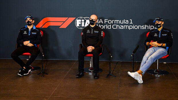 Nicholas Latifi - Simon Roberts - George Russell - Williams - GP Emilia-Romagna 2020 - Imola
