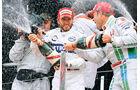 Nick Heidfeld, Champagner, Podest