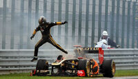 Nick Heidfeld GP Ungarn Crashs 2011