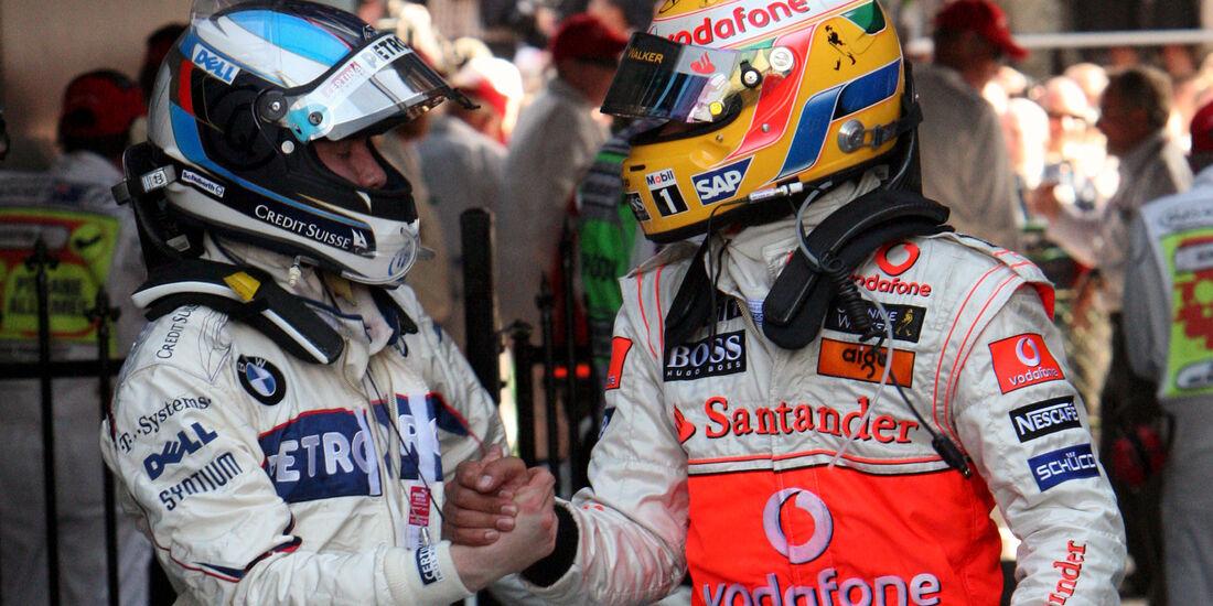 Nick Heidfeld & Lewis Hamilton - GP Australien 2008