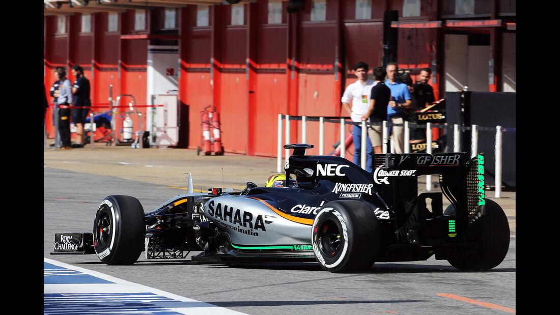 Nick Yelloly - Force India - Barcelona-Test - 12. Mai 2015