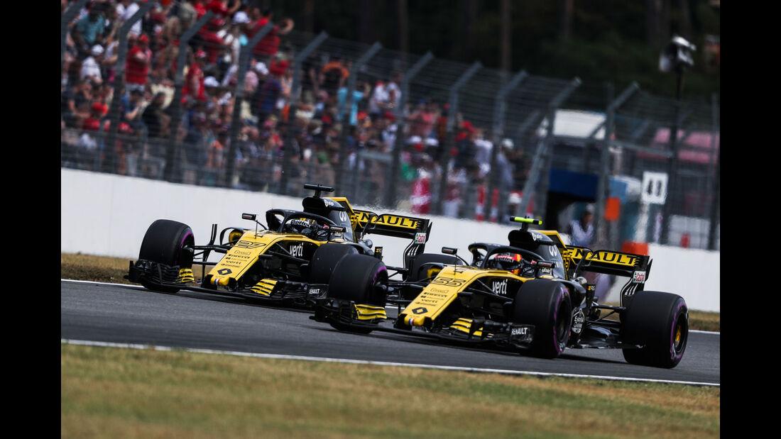 Nico Hülkenberg - Carlos Sainz - Renault - GP Deutschland 2018 - Hockenheim - Qualifying - Formel 1 - Samstag - 21.7.2018