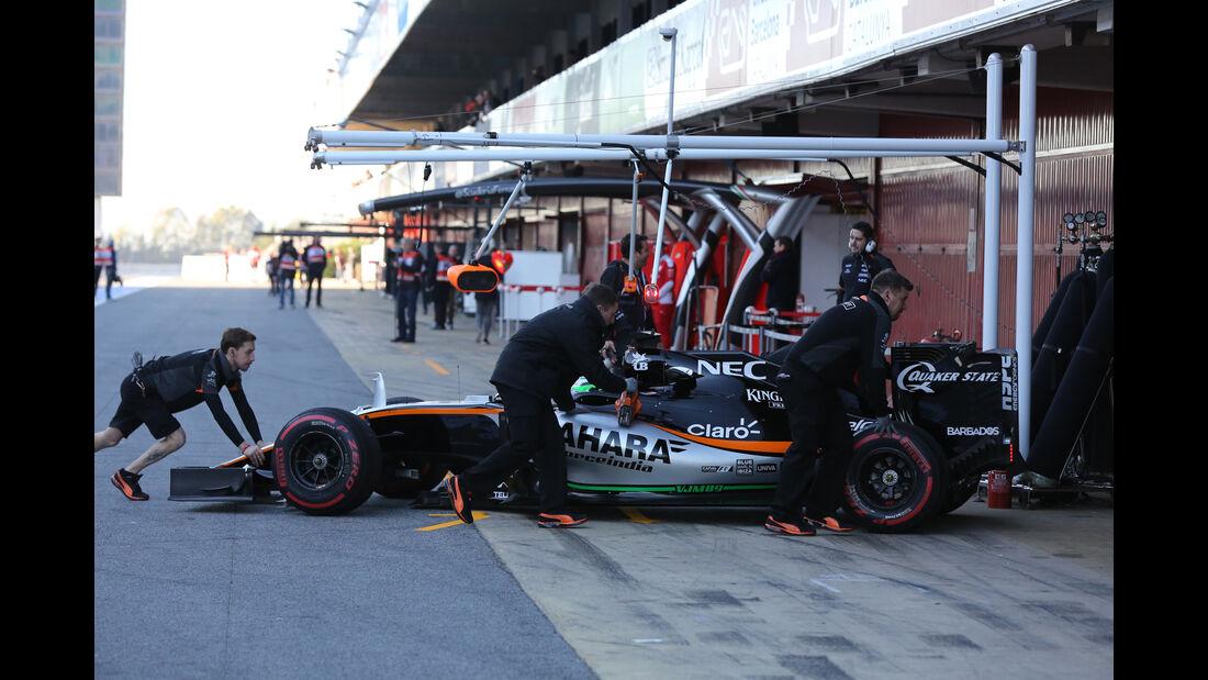 Nico Hülkenberg - Force India - Barcelona - Formel 1-Test - 1. März - 2016