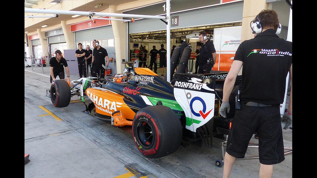 Nico Hülkenberg - Force India - Formel 1 - Bahrain - Test - 2. März 2014