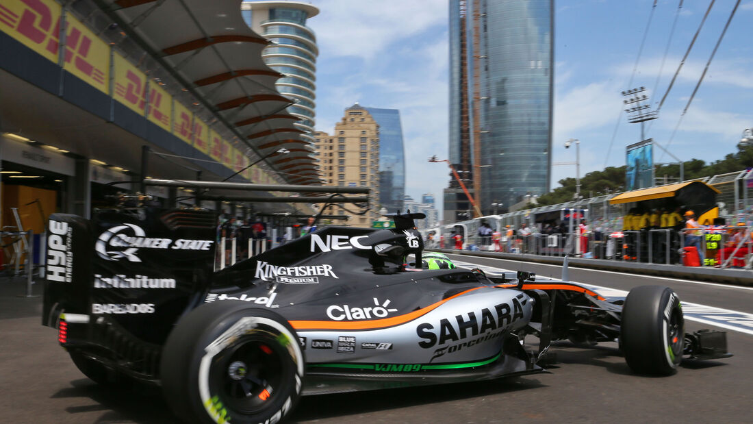 Nico Hülkenberg - Force India - Formel 1 - GP Aserbaidschan - Baku - 17. Juni 2016