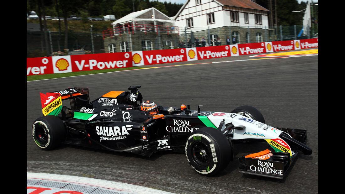 Nico Hülkenberg - Force India - Formel 1 - GP Belgien - Spa-Francorchamps - 22. August 2014