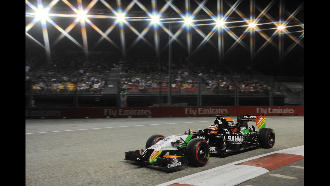 Nico Hülkenberg - Force India - Formel 1 - GP Singapur - 20. September 2014