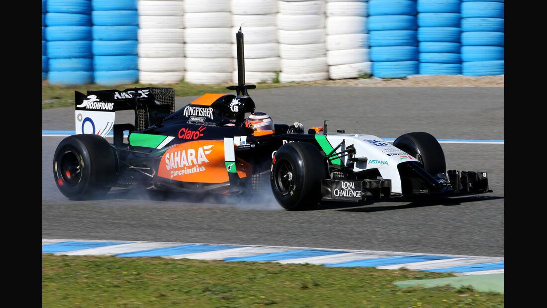 Nico Hülkenberg - Force India - Formel 1 - Jerez - Test - 30. Januar 2014