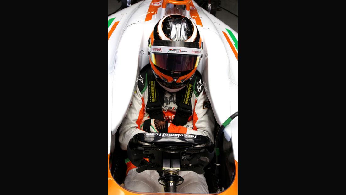 Nico Hülkenberg - Force India - Formel 1-Test Barcelona - 4. März 2012