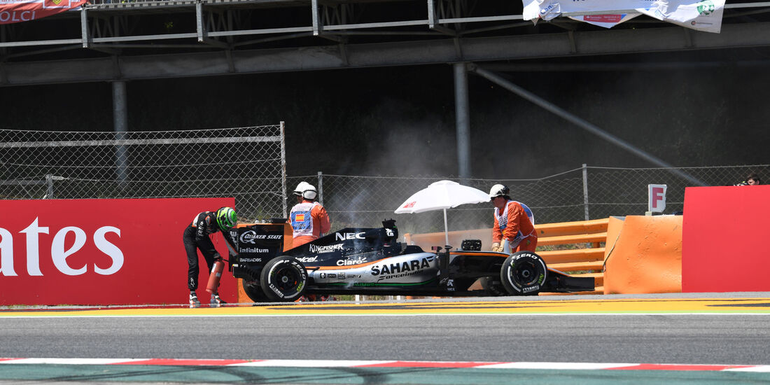 Nico Hülkenberg - Force India - GP Spanien 2016 - Barcelona - Sonntag - 15.5.2016