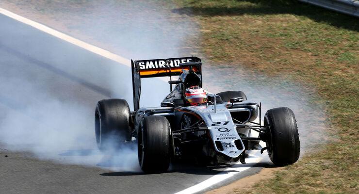 Nico Hülkenberg - Force India - GP Ungarn - Budapest - Rennen - Sonntag - 26.7.2015