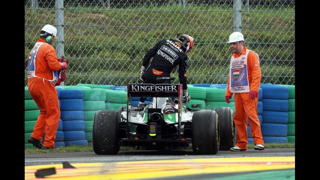 Nico Hülkenberg - GP Ungarn - Crashs 2014
