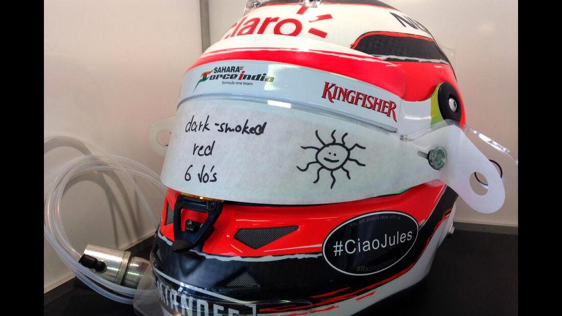 Nico Hülkenberg - Jules Bianchi-Aufkleber - GP Ungarn 2015