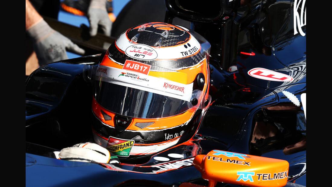 Nico Hülkenberg - Jules Bianchi-Tribute - GP Russland 2014