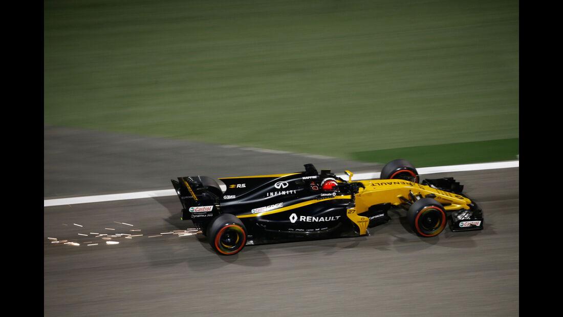Nico Hülkenberg - Renault - Formel 1 - GP Bahrain - Sakhir - Training - Freitag - 14.4.2017