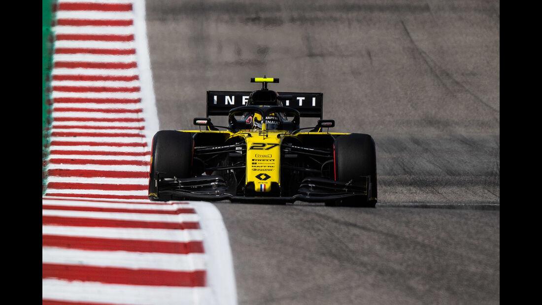 Nico Hülkenberg - Renault  - Formel 1 - GP USA - Austin - 2. November 2019