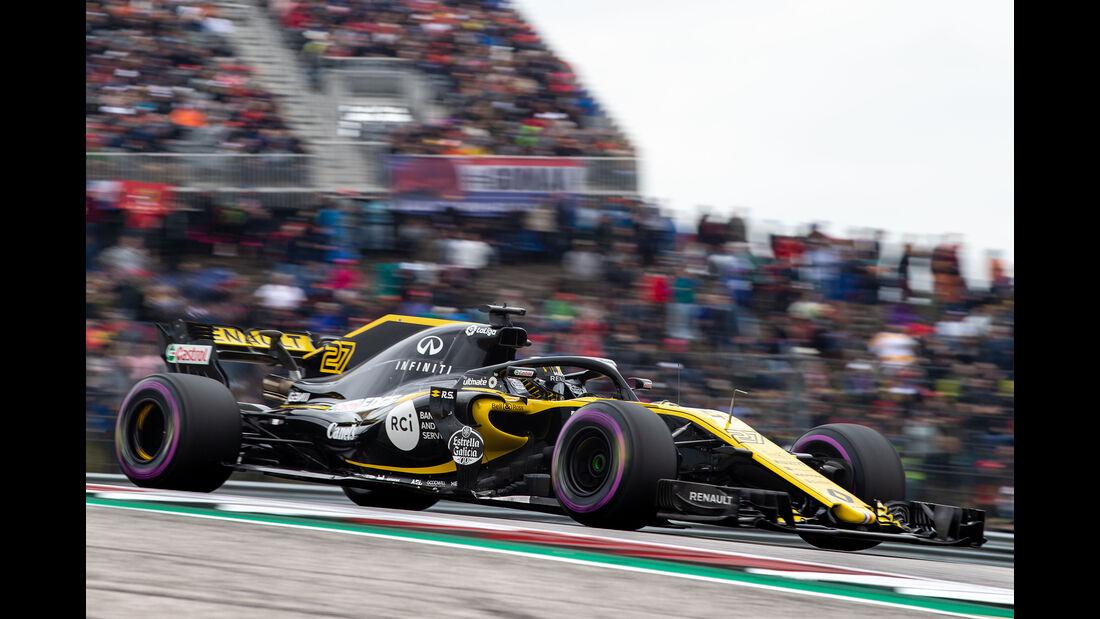 Nico Hülkenberg - Renault - Formel 1 - GP USA - Austin - 20. Oktober 2018