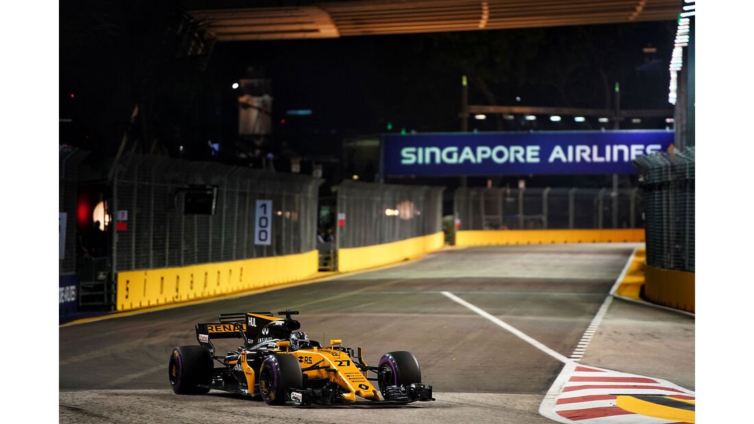 Nico Hülkenberg - Renault - GP Singapur - Formel 1 - Freitag - 15.9.2017