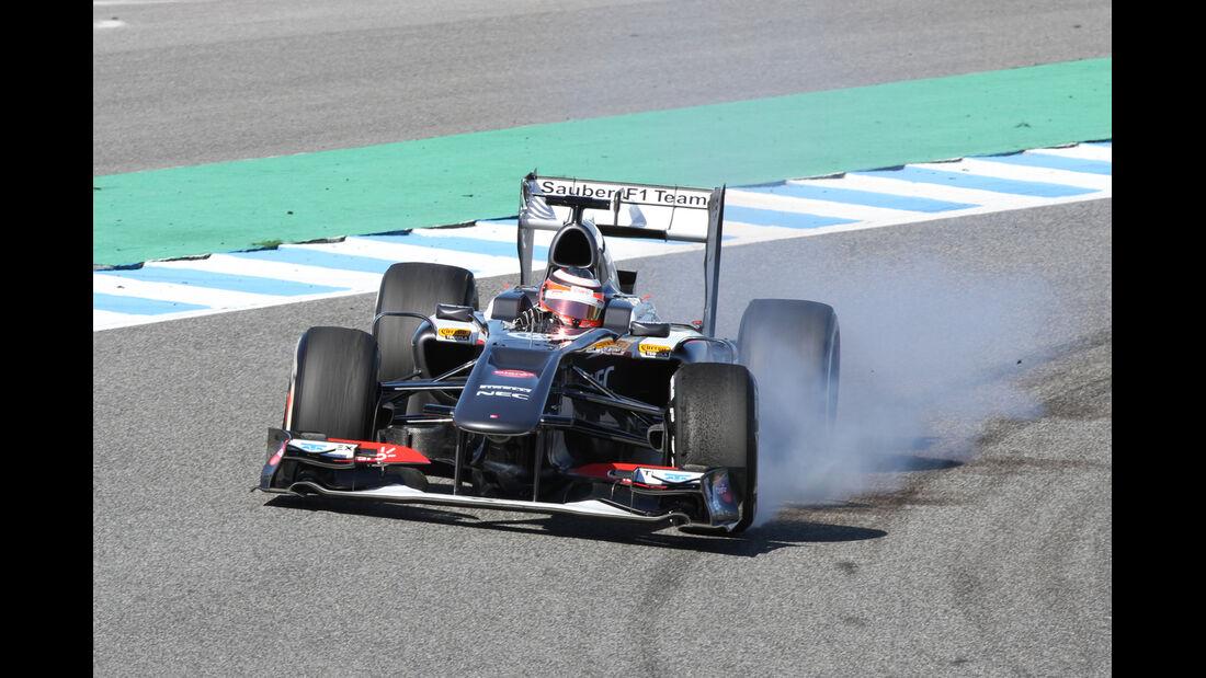 Nico Hülkenberg Sauber F1 Test Jerez 2013 Highlights