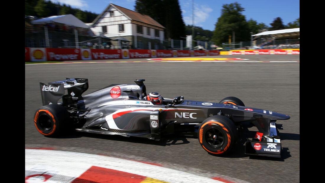 Nico Hülkenberg - Sauber - Formel 1 - GP Belgien - Spa-Francorchamps - 23. August 2013