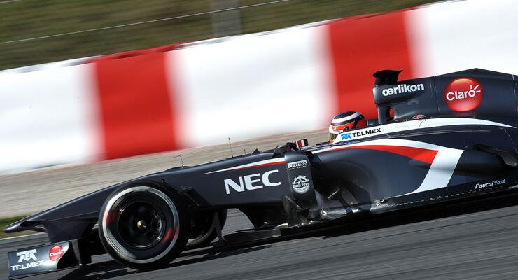 Nico Hülkenberg, Sauber, Formel 1-Test, Barcelona, 20. Februar 2013
