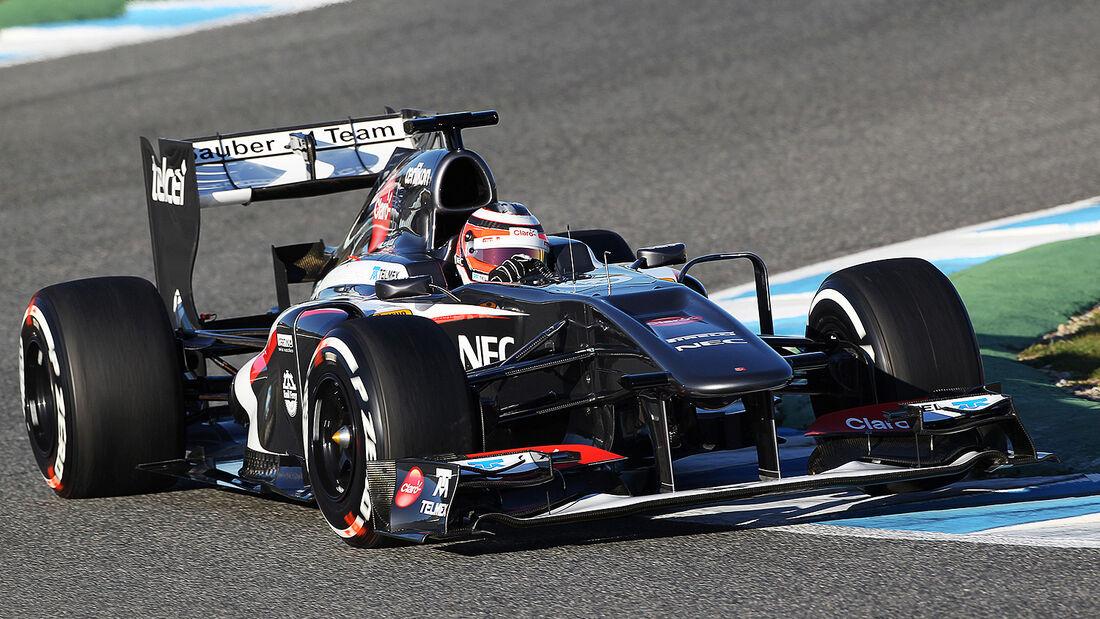 Nico Hülkenberg, Sauber, Formel 1-Test, Jerez, 5.2.2013