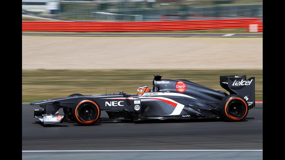 Nico Hülkenberg - Sauber - Young Driver Test - Silverstone - 18. Juli 2013