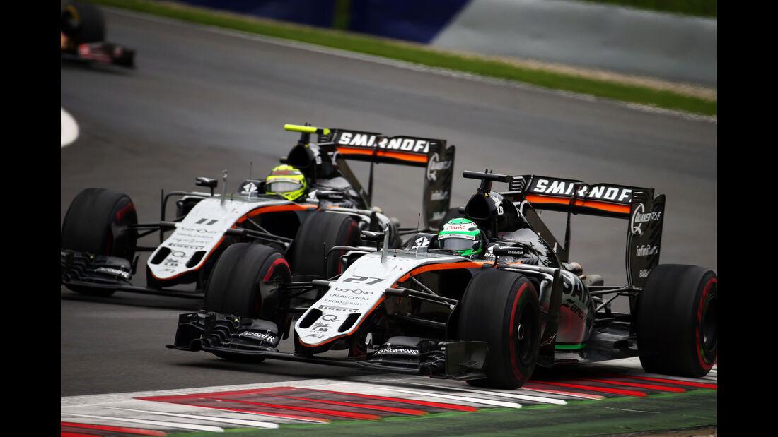 Nico Hülkenberg - Sergio Perez - Force India - Formel 1 - GP Österreich - 3. Juli 2016