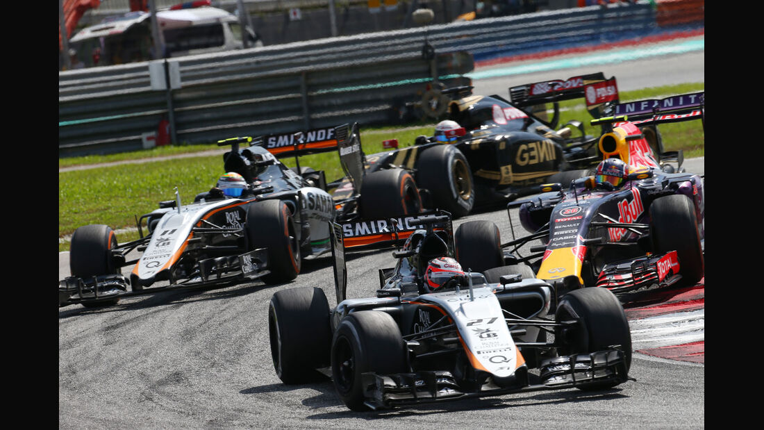 Nico Hülkenberg - Sergio Perez - Force India - GP Malaysia 2015 - Formel 1