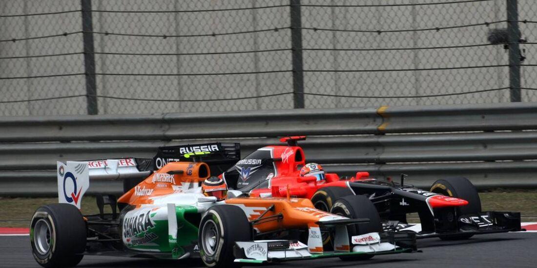 Nico Hülkenberg - Timo Glock  - Formel 1 - GP China - 15. April 2012