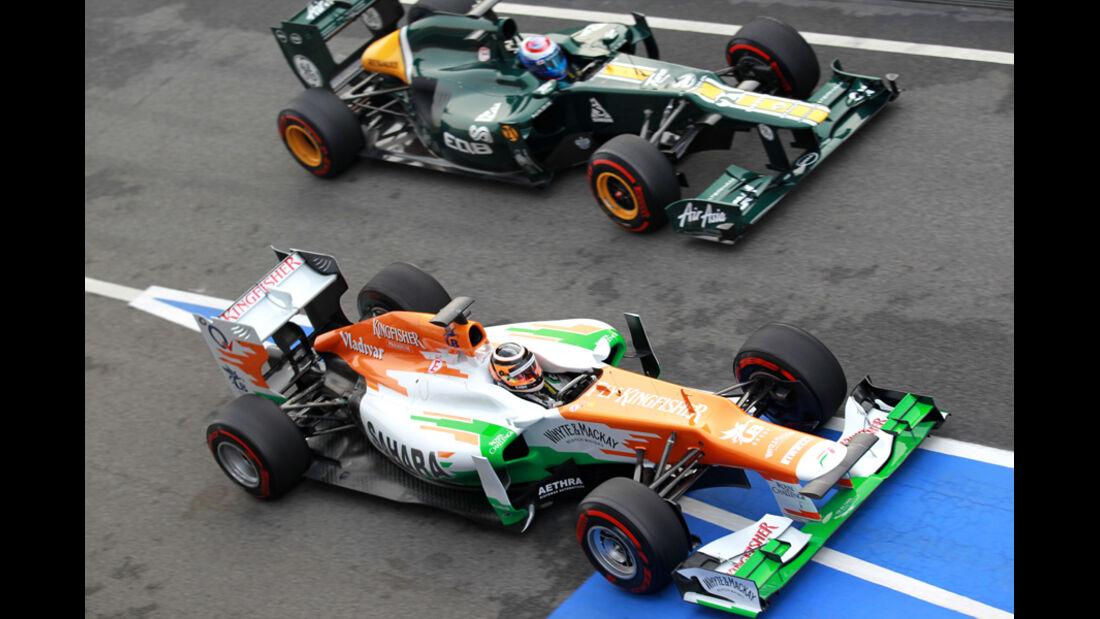 Nico Hülkenberg - Vitaly Petrov - Formel 1-Test Barcelona - 4. März 2012