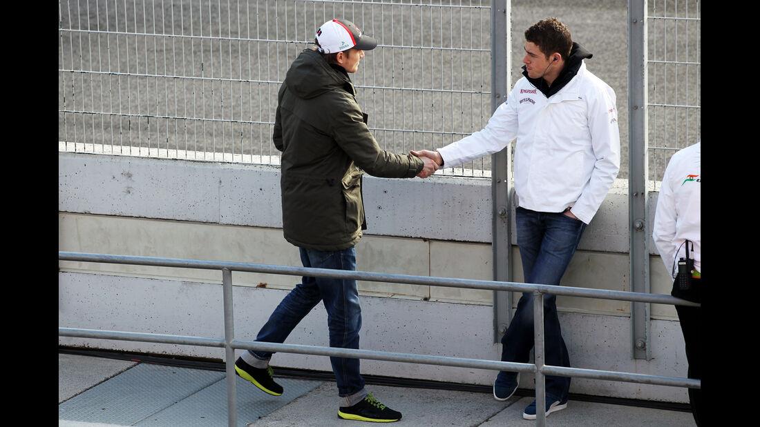 Nico Hülkenberg und Paul di Resta - Formel 1 - Test - Barcelona - 2. März 2013