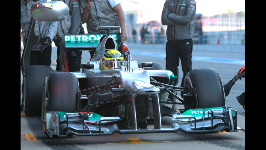 Nico Rosberg Barcelona F1-Test 2012