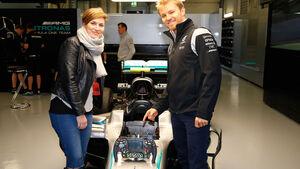Nico Rosberg - Bianca Leppert - Mercedes - Formel 1 -GP Russland - 28. April 2016