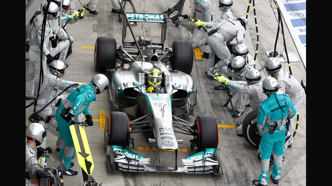 Nico Rosberg - Boxenstopp 2013