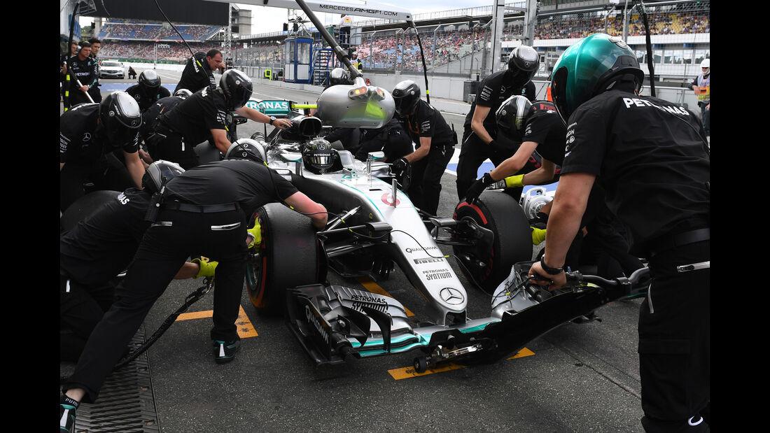 Nico Rosberg - Boxenstopp - GP Deutschland 2016