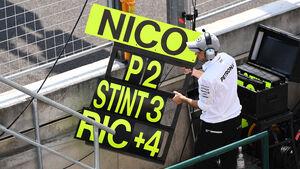 Nico Rosberg Boxentafel - Formel 1 - GP Ungarn 2016