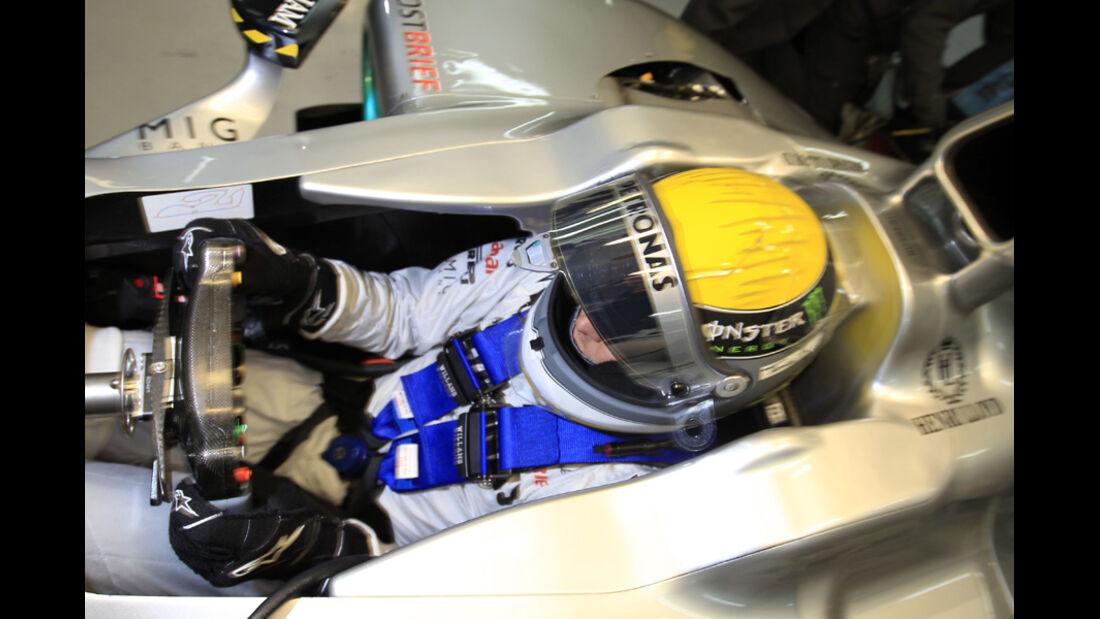 Nico Rosberg Cockpit 2011