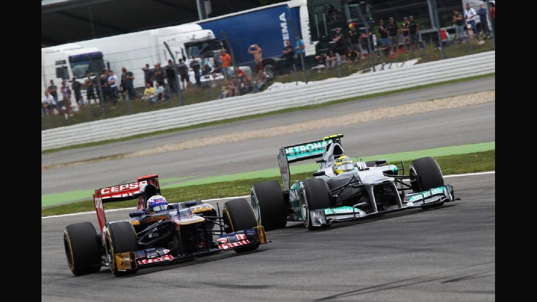 Nico Rosberg Daniel Ricciardo - Formel 1 - GP Deutschland - 22. Juli 2012