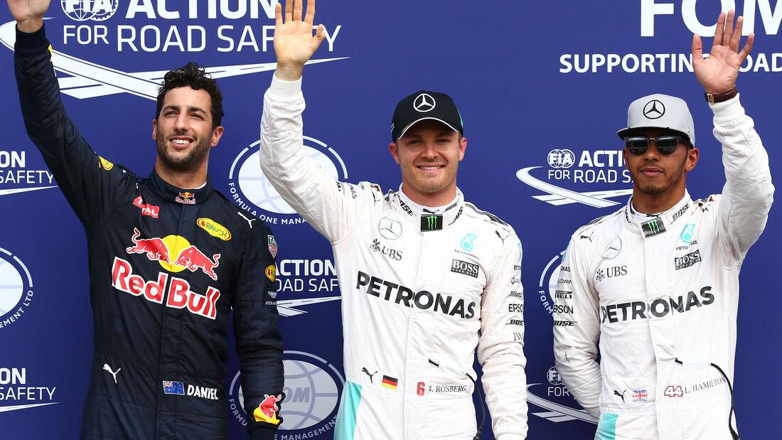 Nico Rosberg - Daniel Ricciardo - Lewis Hamilton - Formel 1 - GP Deutschland - 30. Juli 2016